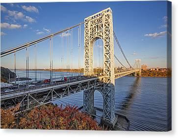 George Washington Bridge Nyc Canvas Print by Susan Candelario