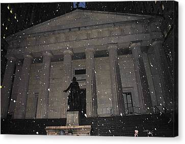 Canvas Print featuring the photograph George Washington Federal Hall by Robert  Moss
