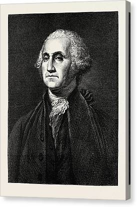 George Washington, He Was One Of The Founding Fathers Canvas Print by American School