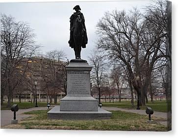 George Washington Statue Canvas Print by Shelley Wood
