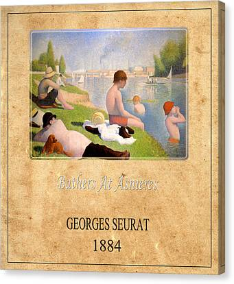 Georges Seurat 1 Canvas Print by Andrew Fare