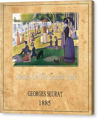 Georges Seurat 2 Canvas Print by Andrew Fare