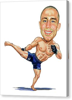 Georges St. Pierre Canvas Print by Art