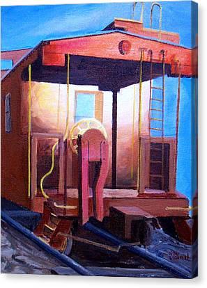 Georgetown Caboose Canvas Print