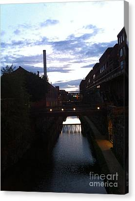 Georgetown Canal Canvas Print by Fareeha Khawaja