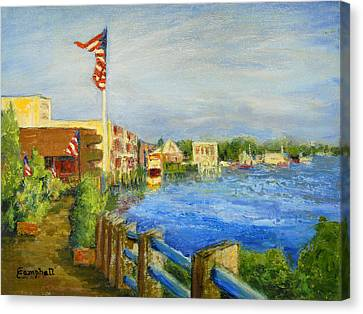 Georgetown Harbor Canvas Print by Cecelia Campbell