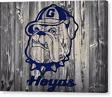 Georgetown Hoyas Barn Canvas Print