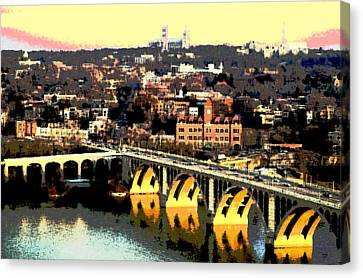 Georgetown Washington Dc Canvas Print by Charles Shoup