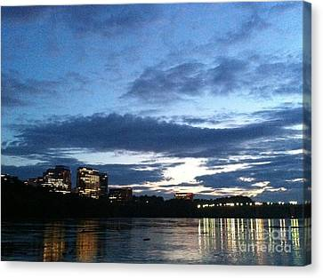 Georgetown Waterfront  Canvas Print by Fareeha Khawaja