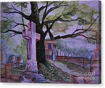 Georgia Graveyard  Canvas Print by Janet Felts