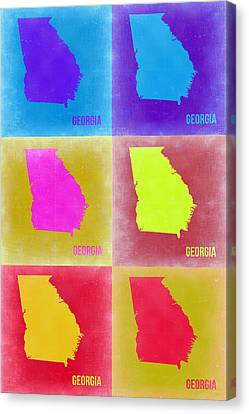Georgia Pop Art Map 2 Canvas Print