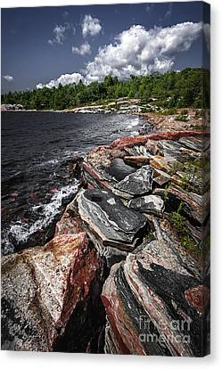 Georgian Bay Rocks I Canvas Print by Elena Elisseeva