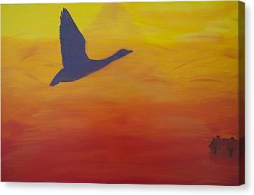 Georgian Bay Sunset Canvas Print by Alex Banman