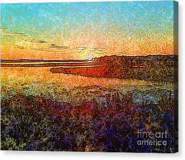 Georgian Bay Sunset Canvas Print by Claire Bull