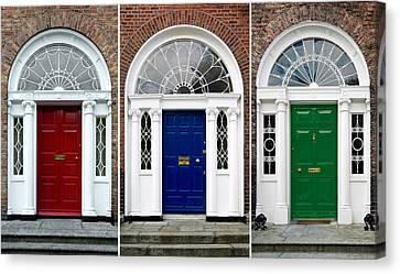 Georgian Doors - Dublin - Ireland Canvas Print by Jane McIlroy