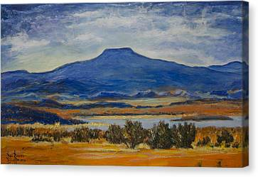 Canvas Print featuring the painting Georgia's Mountain by Ron Richard Baviello