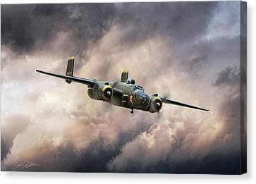 Georgie's Gal B-25 Canvas Print by Peter Chilelli
