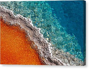 Geothermic Layers Canvas Print