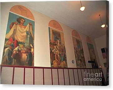 Clare Michigan Canvas Print - Gerald Mast Murals In Clare Michigan by Terri Gostola