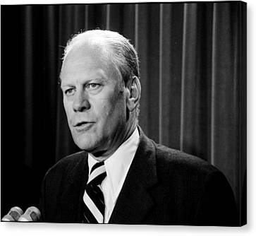 Potus Canvas Print - Gerald R Ford by Benjamin Yeager