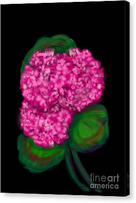 Canvas Print featuring the digital art Geranium by Christine Fournier