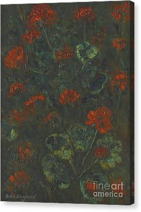 Geraniums Canvas Print by Celestial Images