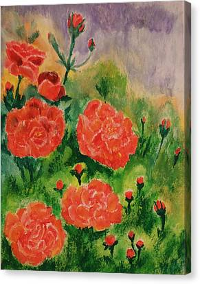 Geraniums Canvas Print by Christy Saunders Church