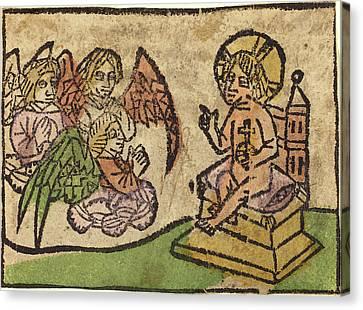 German 15th Century, Christ Child With Three Angels Canvas Print
