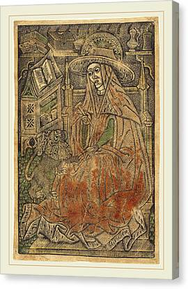 German 15th Century Or Master Of The Aachen Madonna, Saint Canvas Print by Litz Collection