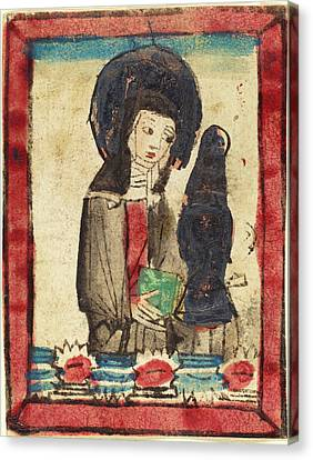 German 15th Century, Saint Clare Of Assisi, 1450-1470 Canvas Print