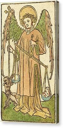 German 15th Century, Saint Michael Canvas Print by Quint Lox