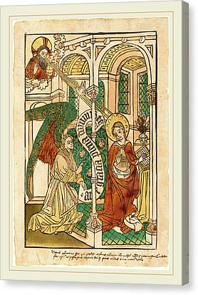 German 15th Century, The Annunciation Canvas Print by Litz Collection