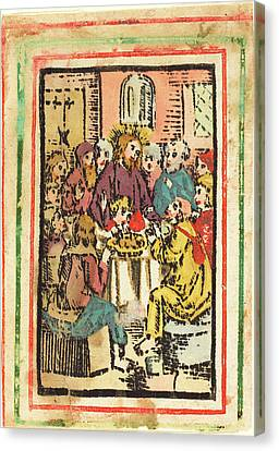 German 15th Century, The Last Supper, C. 1480-1500 Canvas Print by Quint Lox