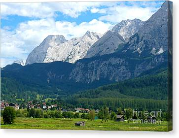 German Alps - Digital Painting Canvas Print by Carol Groenen