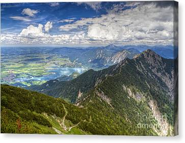 Canvas Print featuring the photograph German Alps View I by Juergen Klust