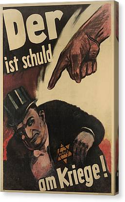 German Anti-semitic Poster. Der Ist Canvas Print by Everett