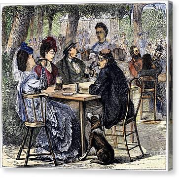 German Beer Garden, 1870 Canvas Print by Granger