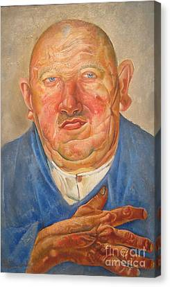 German Butcher  Canvas Print by Celestial Images