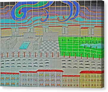 German Cityscape Canvas Print