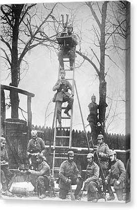 Observer Canvas Print - German Field Observers by Library Of Congress