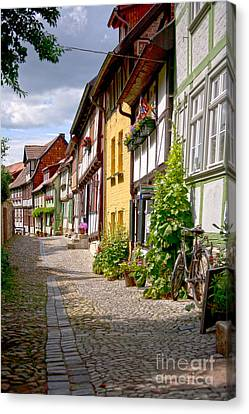 German Old Village Quedlinburg Canvas Print by Heiko Koehrer-Wagner
