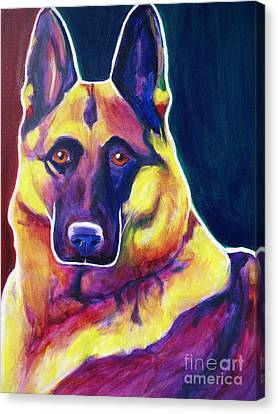 German Shepherd - Burner Canvas Print by Alicia VanNoy Call