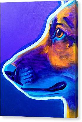 German Shepherd - Face Canvas Print by Alicia VanNoy Call