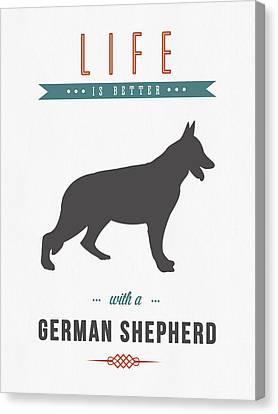 Puppy Canvas Print - German Shepherd 01 by Aged Pixel