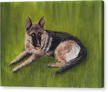 Wolf Canvas Print - German Shepherd by Anastasiya Malakhova