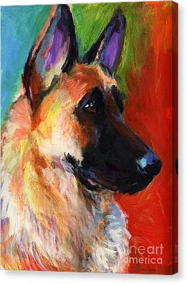 German Shepherd Canvas Print - German Shepherd Dog Portrait by Svetlana Novikova