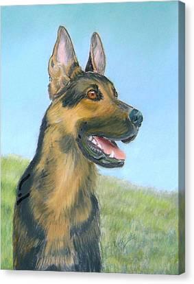 German Shepherd Dog Canvas Print by Ruth Seal