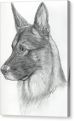 German Shepherd Canvas Print by Lorah Buchanan