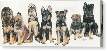 Working Dog Canvas Print - German Shepherd Puppies by Barbara Keith