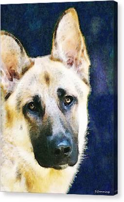 German Shepherd - Soul Canvas Print by Sharon Cummings